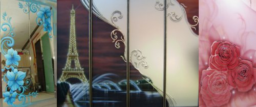 Витражи для мебели и интерьера «Капитэль» в Кременчуге